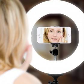 TaffSTUDIO Lampu Halo Ring Light LED Kamera DSLR Smartphone 65W 336 LED 12 Inch - RL480 - White - 8