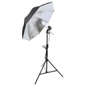 Payung Reflektor Fotografi Studio 84cm dengan Bohlam 45W - Black