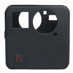 Action Camera Silicone Case + Lens Cover for GoPro Fusion - Black - 2