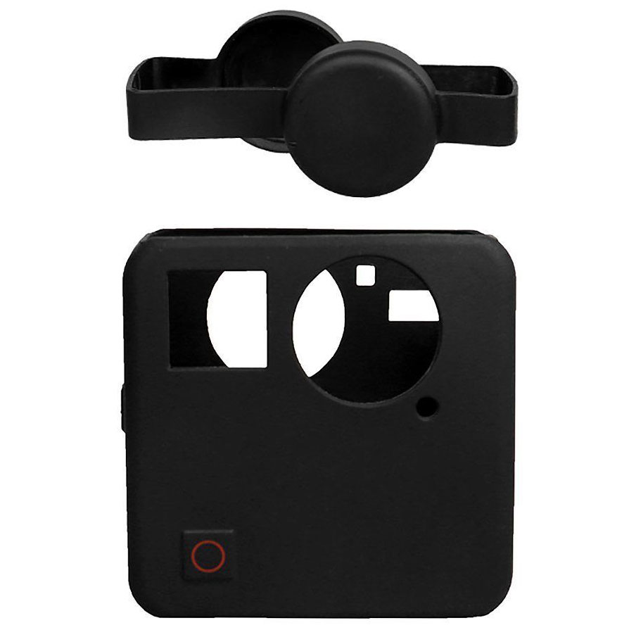 Book Cover Black Fusion : Action camera silicone case lens cover for gopro fusion