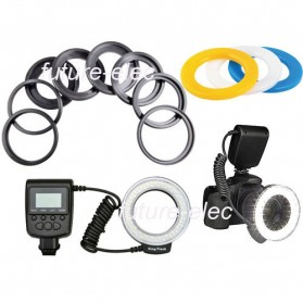 Lightdow Macro LED Ring Flash Light Kamera DSLR Canon Nikon Sony - LD-48 - Black