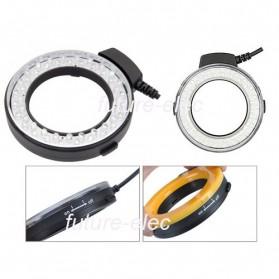 Lightdow Macro LED Ring Flash Light Kamera DSLR Canon Nikon Sony - LD-48 - Black - 2