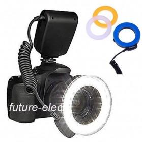 Lightdow Macro LED Ring Flash Light Kamera DSLR Canon Nikon Sony - LD-48 - Black - 3