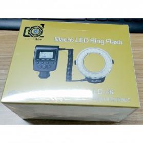 Lightdow Macro LED Ring Flash Light Kamera DSLR Canon Nikon Sony - LD-48 - Black - 8