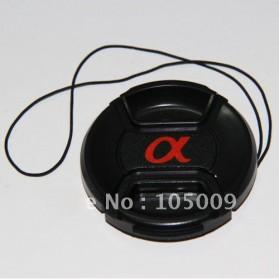 Penutup Lensa Lens Cap 55mm for Sony Alpha A7 A9 A6500 A5000 A7R A7S - Black - 2