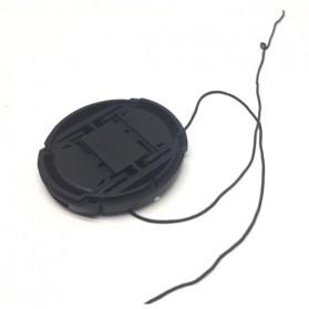Penutup Lensa Lens Cap 55mm for Sony Alpha A7 A9 A6500 A5000 A7R A7S - Black - 3