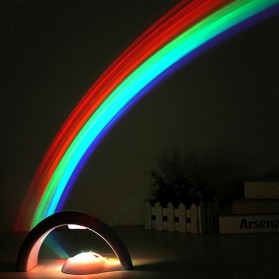 Eshoo Proyektor Lampu Pelangi 3D Rainbow Light Projector - WY-RN01 - White