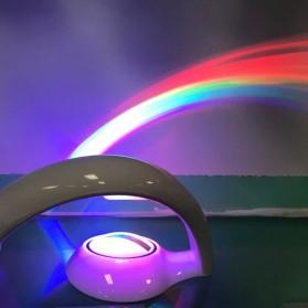 Eshoo Proyektor Lampu Pelangi 3D Rainbow Light Projector - WY-RN01 - White - 8