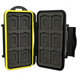 Case Holder Storage Box for Memory Card (12 SD + 12 Micro SD Card) - Black - 1