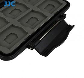 Case Holder Storage Box for Memory Card (12 SD + 12 Micro SD Card) - Black - 3