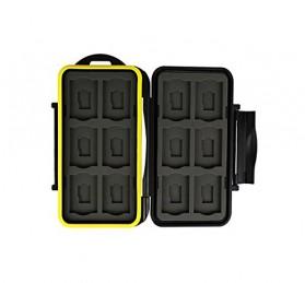 Case Holder Storage Box for Memory Card (12 SD + 12 Micro SD Card) - Black - 4