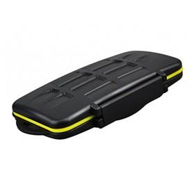 Case Holder Storage Box for Memory Card (12 SD + 12 Micro SD Card) - Black - 5