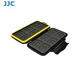 Case Holder Storage Box for Memory Card (12 SD + 12 Micro SD Card) - Black - 6