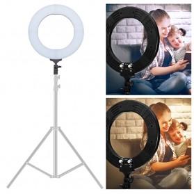 TaffSTUDIO Lampu Halo Ring Light LED Kamera DSLR Smartphone 65W 336 LED 12 Inch with Tripod - RL-18 - 2