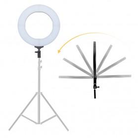 TaffSTUDIO Lampu Halo Ring Light LED Kamera DSLR Smartphone 65W 336 LED 12 Inch with Tripod - RL-18 - 4
