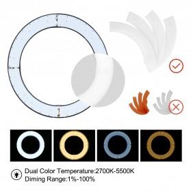 TaffSTUDIO Lampu Halo Ring Light LED Kamera DSLR Smartphone 65W 336 LED 12 Inch with Tripod - RL-18 - 6