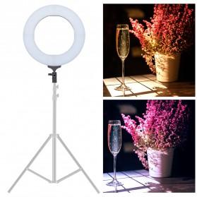 TaffSTUDIO Lampu Halo Ring Light LED Kamera DSLR Smartphone 65W 336 LED 12 Inch with Tripod - RL-18 - 9