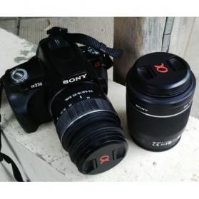 Penutup Lensa Kamera Lens Cap Sony Alpha Logo 77mm - Black - 3