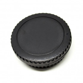 Front Cover & Rear Lens Cap for Canon (No Logo) - Black