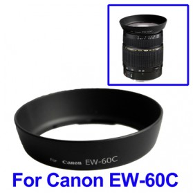 Lens Hood for Canon Camera EW-60C - Black