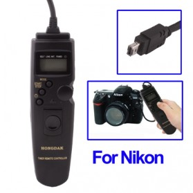 Remote Switch / Remote Shutter - LCD Display Timer Remote Cord for Nikon D90 / D5000 / D7000 / D3000 / D3100 - Black