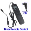 LCD Display Timer Remote Control for Canon - Black