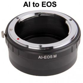 Nikon AI Lens to Canon EOS Lens Mount Stepping Ring - Black