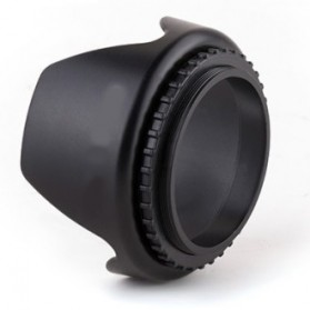 Lens Hood for Cameras 52mm (Screw Mount) - Black - 3
