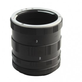 JINTU Extension Ring Lensa Canon - S-DLP-1401 - Black - 2