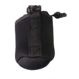 Pouch Neoprene Lensa DSLR dengan Clip (8x10cm) - Black - 2
