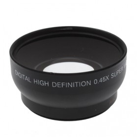 Wide Angle Lens with Macro 0.45X 52mm for Nikon D40 / D60 / D70s / D3000 / D3100 / D5000 - Black - 3