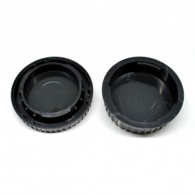Front Cover & Rear Lens Cap for Nikon (With Logo) - Black - 2