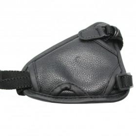 Leather Camera Hand Grip III - Black - 3