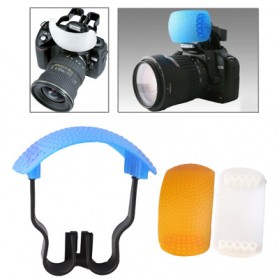 Flash Diffuser Pop-up (White / Blue / Orange / Bracket)