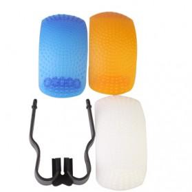 Flash Diffuser Pop-up (White / Blue / Orange / Bracket) - 2