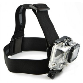 Elastic Adjustable Head Strap with Simple Anti-Slide Glue For Xiaomi Yi / Xiaomi Yi 2 4K / GoPro - Black
