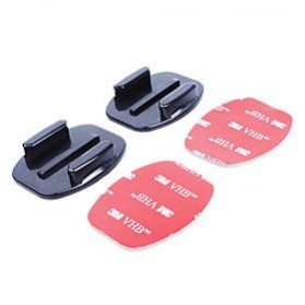 Flat Surface Adhesive Sticky Mount 2 PCS for Xiaomi Yi / Xiaomi Yi 2 4K / GoPro - Black