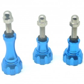 Baut Action Camera - Aluminium Thumb Knob and Stainless Bolt Nut Screw 3pcs for Xiaomi Yi / Xiaomi Yi 2 4K / GoPro - Blue