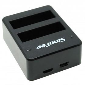 Sinofer Dual Battery Charger for GoPro Hero 4 (backup) - Black