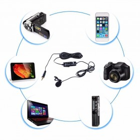 Boya Clip-On Omnidirectional Microphone for Smartphone & DSLR - BY-M1 - Black - 2