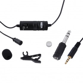 Boya Clip-On Omnidirectional Microphone for Smartphone & DSLR - BY-M1 - Black - 5