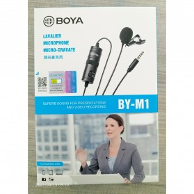 Boya Clip-On Omnidirectional Microphone for Smartphone & DSLR - BY-M1 - Black - 11