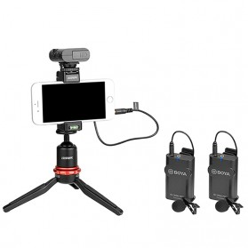 Boya Wireless Lavalier Microphone System for Smartphone & DSLR - BY-WM4 MKII - Black - 4