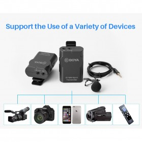 Boya Wireless Lavalier Microphone System for Smartphone & DSLR - BY-WM4 MKII - Black - 11
