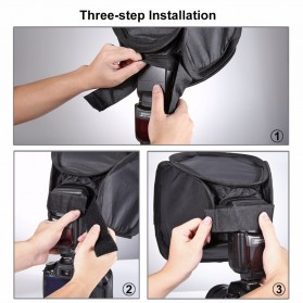 PULUZ Universal Softbox Flash Diffuser Camera DSLR - Black - 4