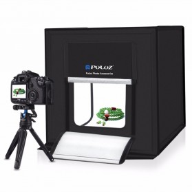 PULUZ Photo Studio Mini Portable dengan LED dan 3 PCS Background Size M - PU5040 - Black - 2