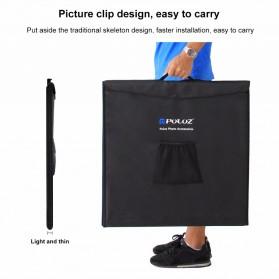 PULUZ Photo Studio Mini Portable dengan LED dan 3 PCS Background Size M - PU5040 - Black - 4