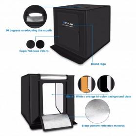 PULUZ Photo Studio Mini Portable dengan LED dan 3 PCS Background Size M - PU5040 - Black - 5