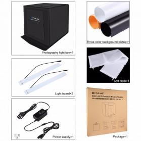 PULUZ Photo Studio Mini Portable dengan LED dan 3 PCS Background Size M - PU5040 - Black - 6