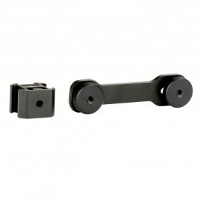 Ulanzi Triple Cold Shoe Mount Extension Bracket for Gimbal Stabilizer - PT-3 - Black - 2